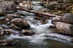 Речные пороги реки около падений Crabtree, в национальный лес Джорджа Вашингтона в Вирджинии Стоковое фото RF