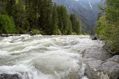 Речные пороги реки Wenatchee Стоковое Изображение RF