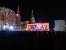 Речь Владимира Путина в день его перевыборы стоковое фото rf