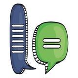 Речь клокочет сообщения с чертежом сброса иллюстрация вектора