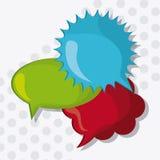 речь пузыря сообщения цветов, иллюстрация вектора