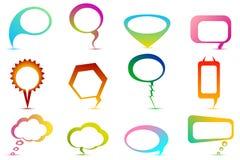 речь пузыря цветастая иллюстрация вектора
