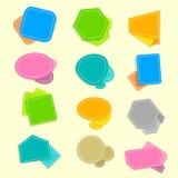 речь пузыря цветастая Стоковые Фотографии RF
