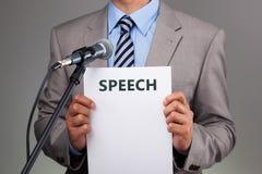Речь с микрофоном стоковое изображение