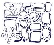 речь эскиза doodle пузыря стрелки Стоковая Фотография RF