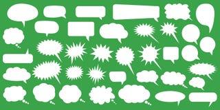 речь JPEG имеющихся форм пузырей eps8 установленная Пузыри речи пустого пустого вектора белые Дизайн слова воздушного шара шаржа иллюстрация штока