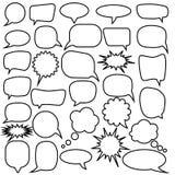 речь JPEG имеющихся форм пузырей eps8 установленная Пузыри речи пустого пустого вектора белые Дизайн слова воздушного шара шаржа бесплатная иллюстрация