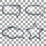 речь JPEG имеющихся форм пузырей eps8 установленная Стоковые Изображения