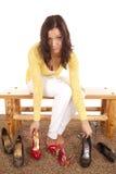 решая ботинки стоковая фотография rf