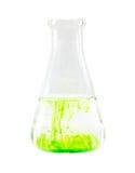Решение в стеклоизделии labolatori склянки Стоковые Изображения RF