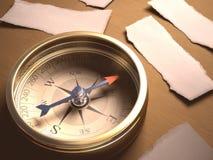 Решение компаса Стоковое Фото