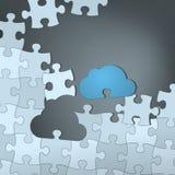 Решение облака иллюстрация вектора