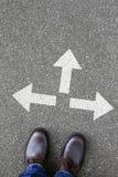 Решение решает сдельную работу решения успеха целей концепции дела Стоковое Изображение RF