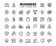 Значки бизнес-линии Решение стратегии идеи представления награды карьеры сервисной поддержки цели финансов Вектор дела иллюстрация штока