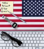 Решение суда повторный подсчёт для Соединенных Штатов американских избирателей стоковое фото rf