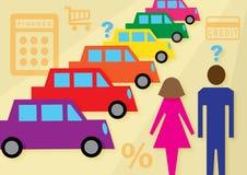 Решение финансов автомобиля Иллюстрация штока