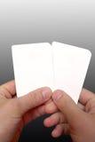 решение 2 карточек Стоковое фото RF