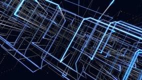 Решетка абстрактной предпосылки голубая против черной предпосылки стоковое изображение rf