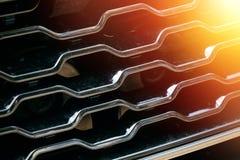 Решетка автомобиля с sunflare Стоковые Изображения RF