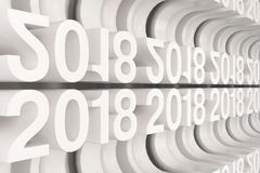 Решетка белых новых диаграмм 2018 год Стоковое Фото