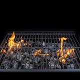 Решетка гриля барбекю BBQ, огонь, уголь Стоковое фото RF