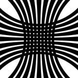 Решетка, искажение сетки Линии Deformed пересекая Геометрическое PA Стоковая Фотография