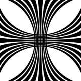 Решетка, искажение сетки Линии Deformed пересекая Геометрическое PA Стоковое Фото