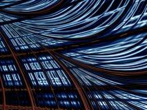 Решетка и волны - конспект цифров произвел изображение иллюстрация штока