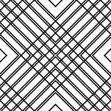 Решетка, картина сетки безшовная геометрическая Monochrome текстура Vecto Стоковая Фотография