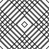 Решетка, картина сетки безшовная геометрическая Monochrome текстура Vecto Стоковые Изображения