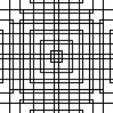 Решетка, картина сетки безшовная геометрическая Monochrome текстура Vecto Стоковое Изображение RF