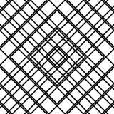 Решетка, картина сетки безшовная геометрическая Monochrome текстура Vecto Стоковая Фотография RF