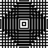 Решетка, картина сетки безшовная геометрическая Monochrome текстура Vecto Стоковое Изображение