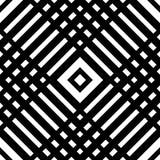 Решетка, картина сетки безшовная геометрическая Monochrome текстура Vecto Стоковые Изображения RF