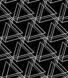 Решетка, картина сетки безшовная monochrome пересекая линии Стоковая Фотография