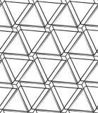 Решетка, картина сетки безшовная monochrome пересекая линии Стоковые Фото