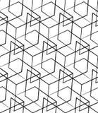 Решетка, картина сетки безшовная monochrome пересекая линии Стоковое фото RF