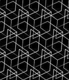Решетка, картина сетки безшовная monochrome пересекая линии Стоковая Фотография RF