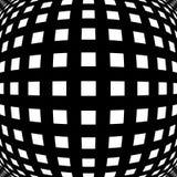 Решетка, картина сетки с искажением абстрактная геометрическая картина Стоковые Изображения RF