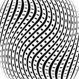 Решетка, картина сетки с искажением абстрактная геометрическая картина Стоковые Фото