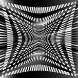 Решетка, картина сетки с искажением абстрактная геометрическая картина Стоковое Изображение