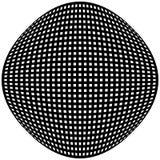 Решетка, картина сетки с искажением абстрактная геометрическая картина Стоковое Изображение RF