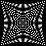 Решетка, картина сетки с искажением абстрактная геометрическая картина Стоковая Фотография RF