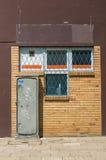 Решетка коробки и окна силы Стоковая Фотография