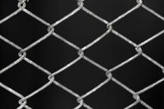Решетка металла на черной предпосылке предпосылки Стоковое фото RF