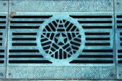 Решетка металла с картиной звезды Стоковые Изображения