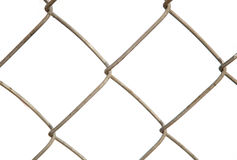 Решетка металла на белой предпосылке Стоковое Фото