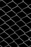 Решетка металла на черной предпосылке Стоковые Фотографии RF
