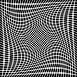 Решетка, мозаика квадратов с различными эффектами искажения r Стоковые Изображения