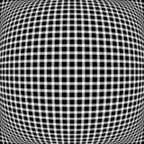 Решетка, мозаика квадратов с различными эффектами искажения r Стоковые Изображения RF